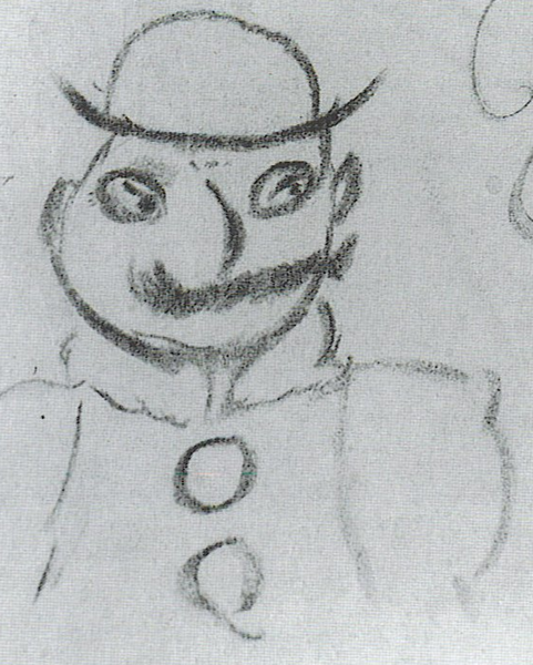 Leopold Bloom taken from a page of Joyce's notes