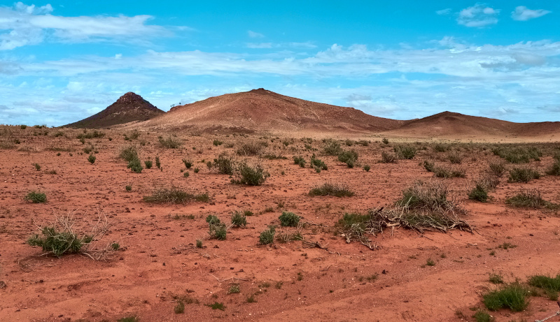pointy hills in the outback near Broken Hill, NSW